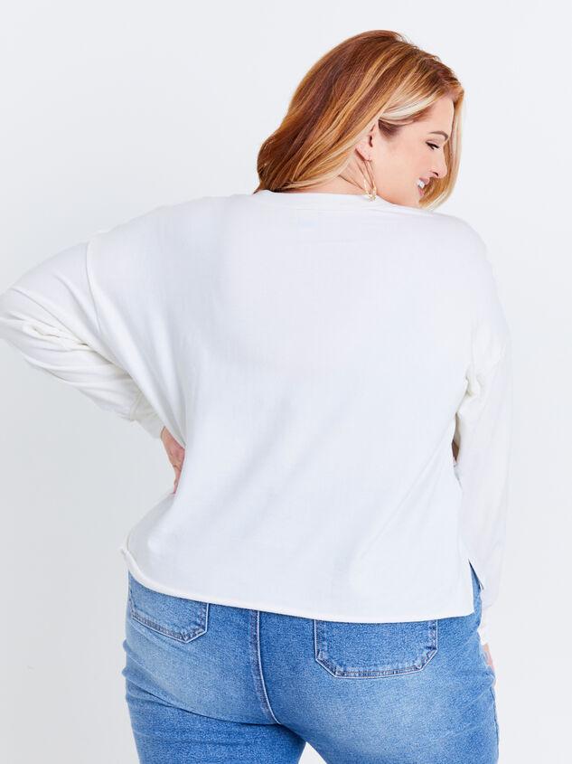 Arwen Plaid Sweatshirt Detail 3 - ARULA