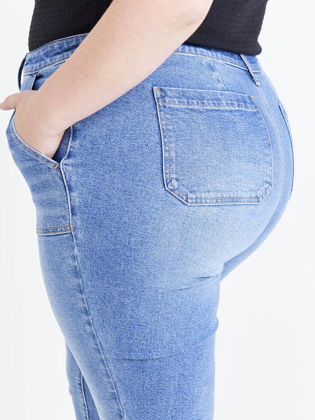 Incrediflex Indigo Rain Jeans Detail 5 - ARULA formerly A'Beautiful Soul