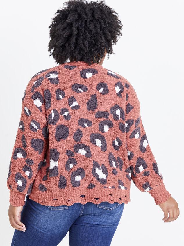 So Cozy Leopard Sweater Detail 3 - ARULA formerly A'Beautiful Soul