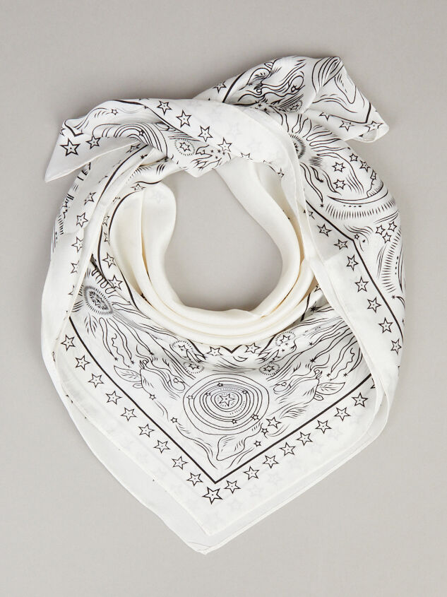 Celestial Bandana - White Detail 1 - ARULA formerly A'Beautiful Soul