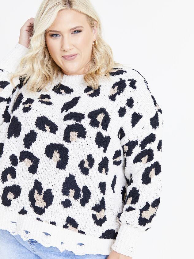 So Cozy Leopard Sweater Detail 4 - ARULA formerly A'Beautiful Soul