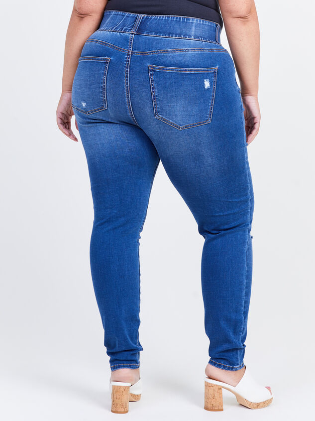 Waist Smoothing Skinny Jeans - Monaco Detail 4 - ARULA formerly A'Beautiful Soul