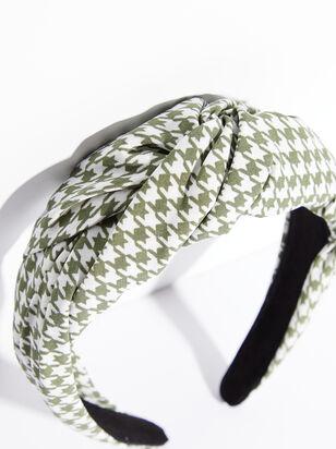 Luca Houndstooth Headband - ARULA