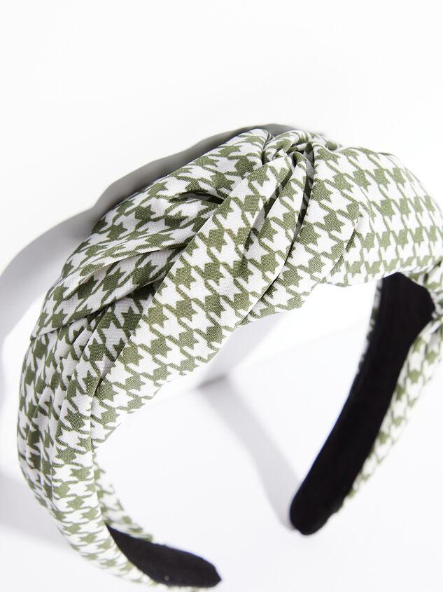 Luca Houndstooth Headband Detail 2 - ARULA
