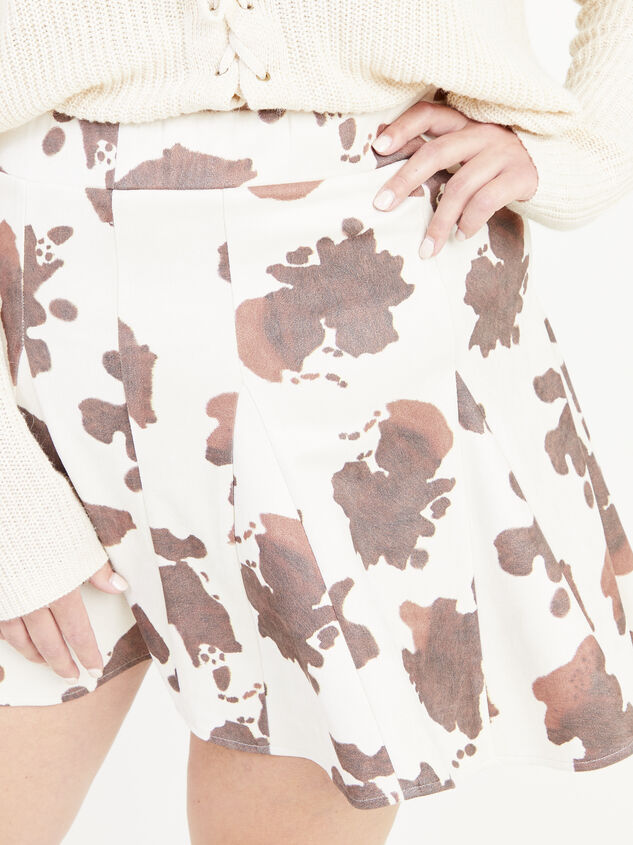 Cowhide Skirt Detail 5 - ARULA formerly A'Beautiful Soul