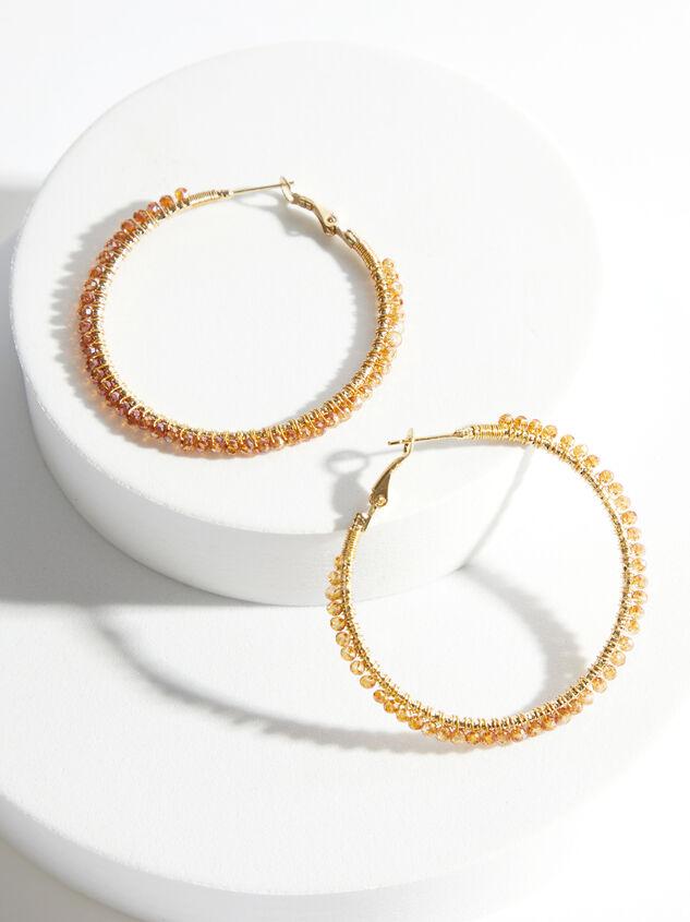 Halo Hoop Earrings - Amber Detail 1 - ARULA formerly A'Beautiful Soul