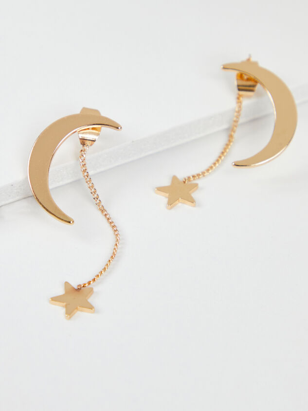 Illusion Moon & Star Earrings Detail 1 - ARULA formerly A'Beautiful Soul