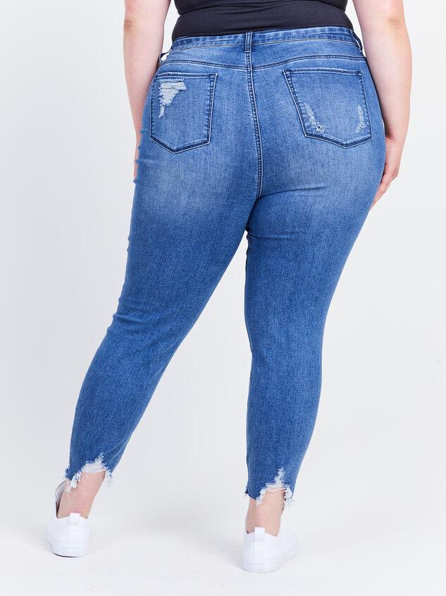 "Incrediflex 27"" Destructed Skinny Jeans Detail 4 - ARULA formerly A'Beautiful Soul"
