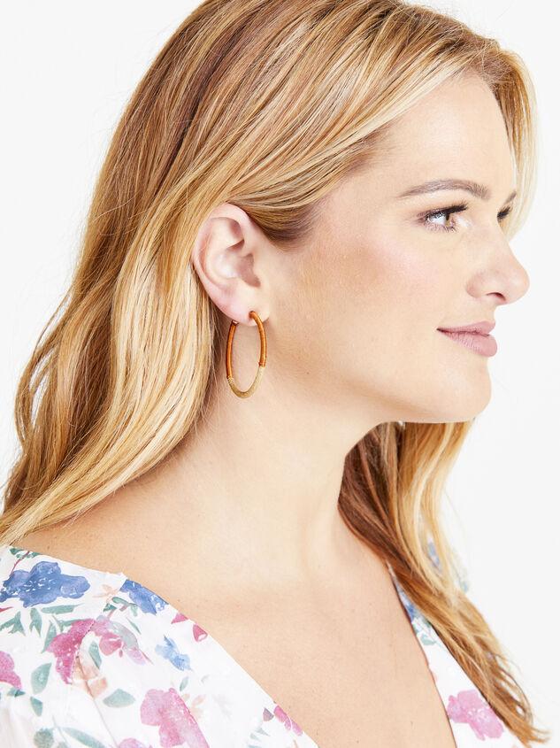 Cora Hoop Earrings Detail 2 - ARULA