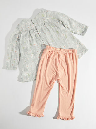 Tullabee Daisy Smocked Top and Leggings - ARULA