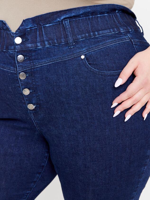 Iyla Elastic Waist Jeans Detail 5 - ARULA