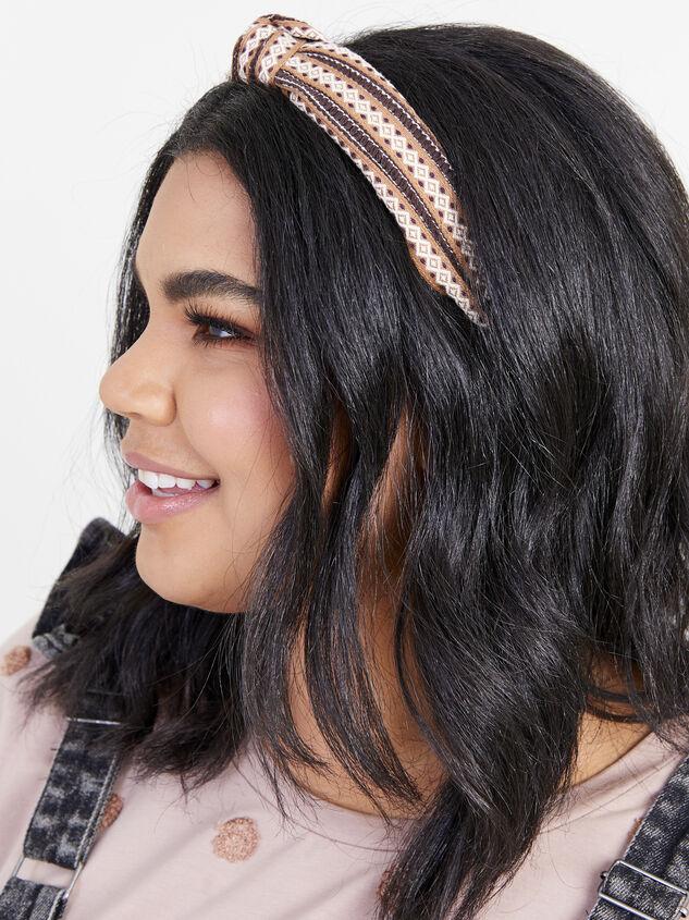Remington Headband - Brown Detail 2 - ARULA formerly A'Beautiful Soul