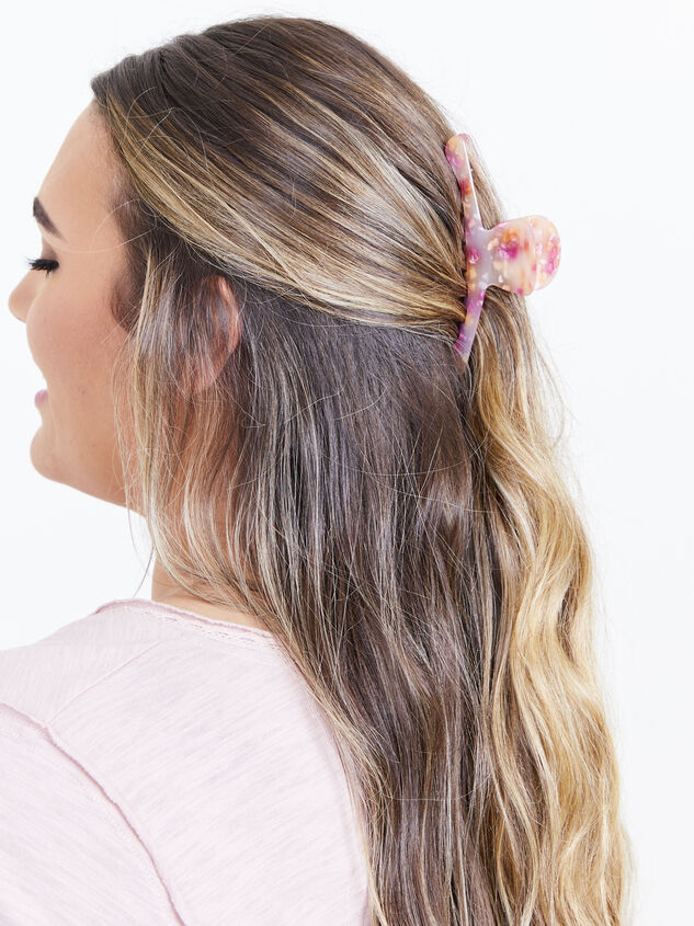 Ivy Claw Clip - Pink Detail 2 - ARULA formerly A'Beautiful Soul