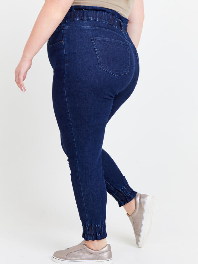 Iyla Elastic Waist Jeans Detail 3 - ARULA