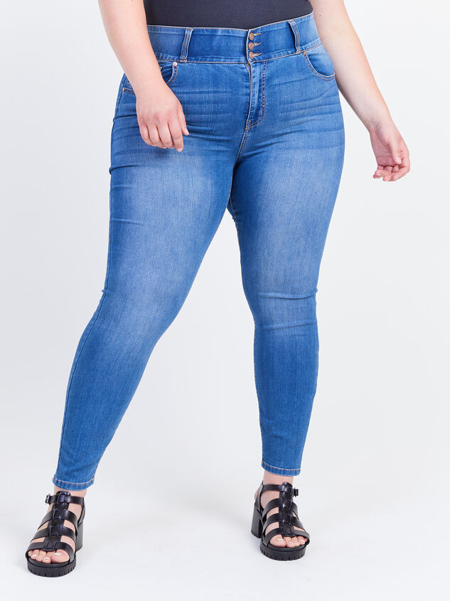 Waist Smoothing Skinny Jeans - Decoy Detail 2 - ARULA formerly A'Beautiful Soul