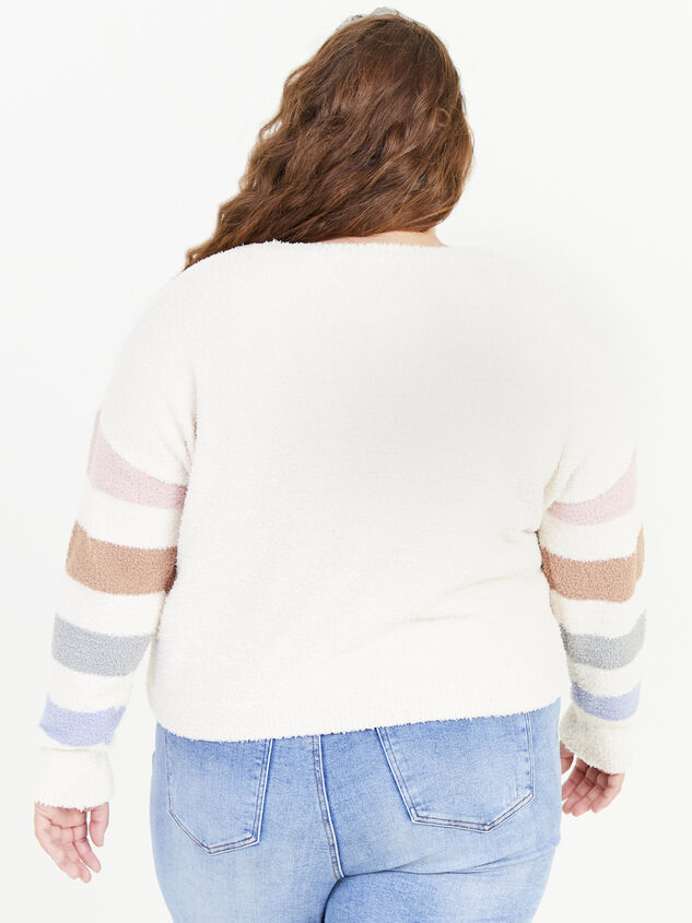 Sammie Striped Sweater Detail 3 - ARULA