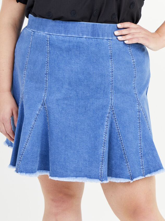 Delilah Denim Skirt Detail 2 - ARULA formerly A'Beautiful Soul