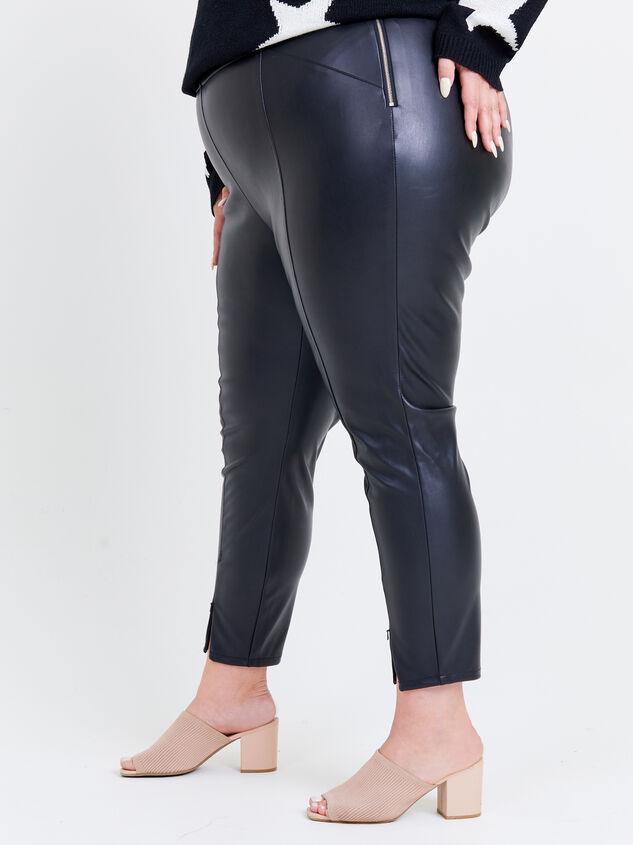 Indre Leather Leggings Detail 3 - ARULA