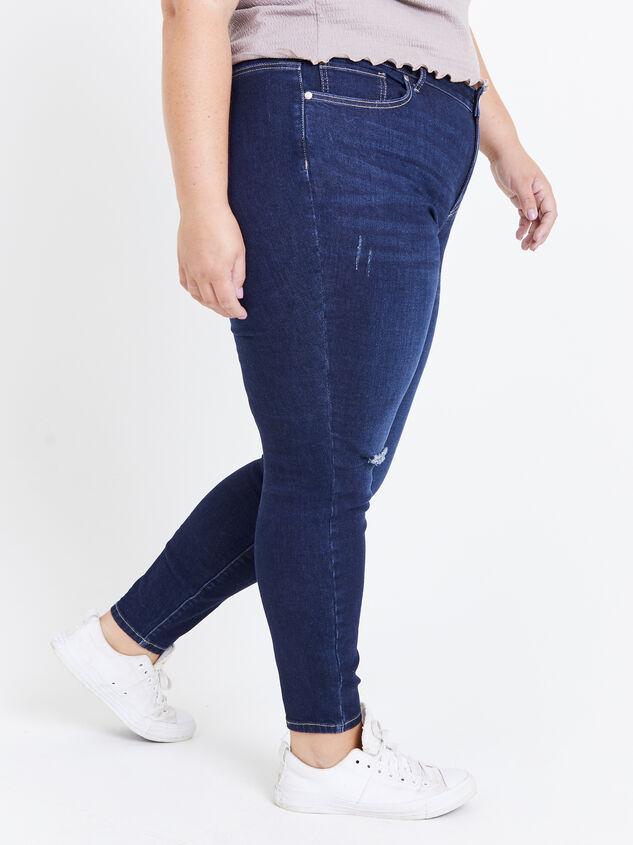"Incrediflex 29"" Dark Skinny Jeans Detail 3 - ARULA"