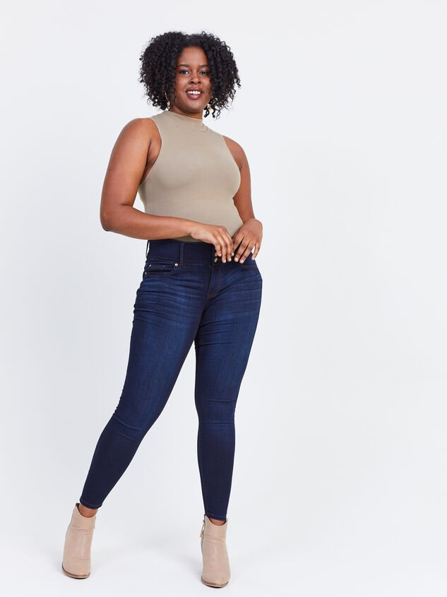 Waist Smoothing Skinny Jeans - Goldie Detail 5 - ARULA formerly A'Beautiful Soul
