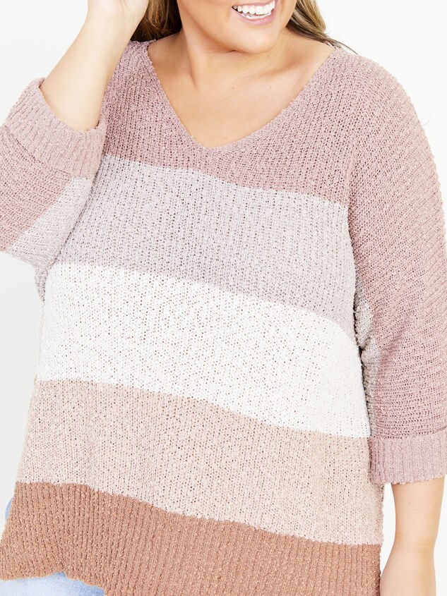 Easy To Love Striped Sweater Detail 4 - ARULA formerly A'Beautiful Soul