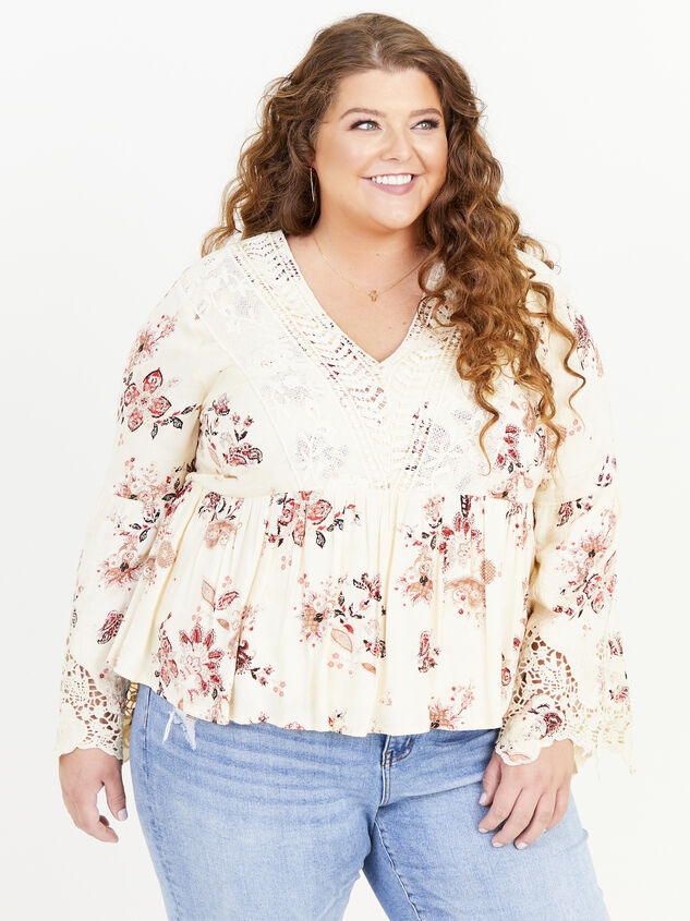 Magdalen Printed Top Detail 1 - ARULA formerly A'Beautiful Soul