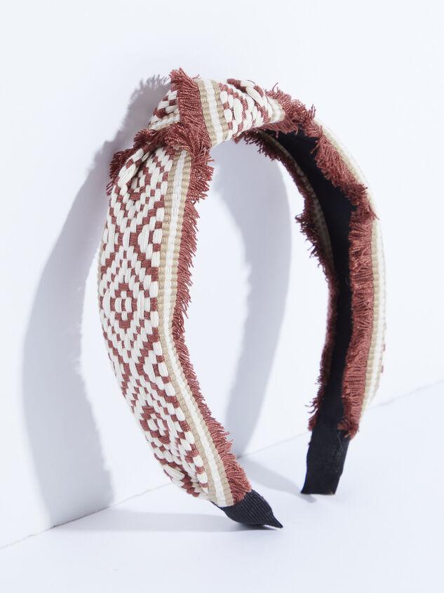 Elliana Headband - Brick Red Detail 1 - ARULA formerly A'Beautiful Soul