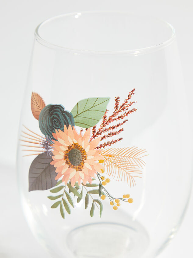 Wildflower Wine Glass Detail 2 - ARULA formerly A'Beautiful Soul