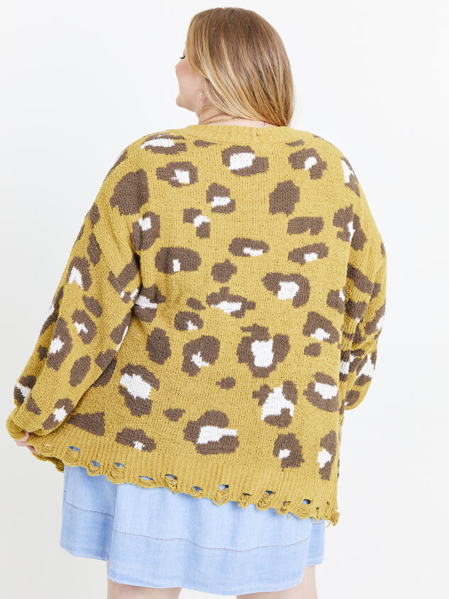 So Soft Leopard Cardigan Detail 3 - ARULA formerly A'Beautiful Soul