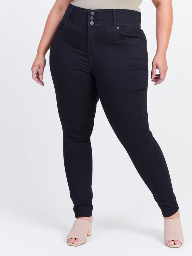 Waist Smoothing Skinny Jeans Detail 2 - ARULA formerly A'Beautiful Soul