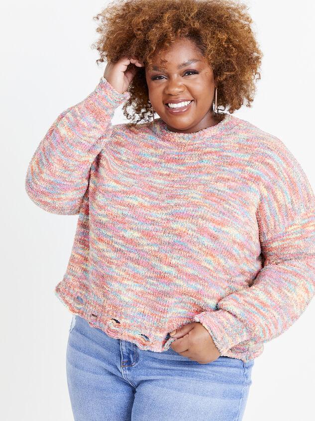 So Cozy Confetti Sweater Detail 1 - ARULA formerly A'Beautiful Soul