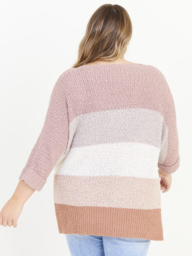 Easy To Love Striped Sweater Detail 3 - ARULA formerly A'Beautiful Soul