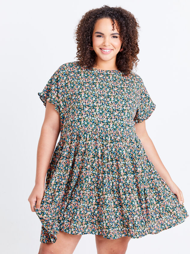 Fifi Dress - Black Floral - ARULA
