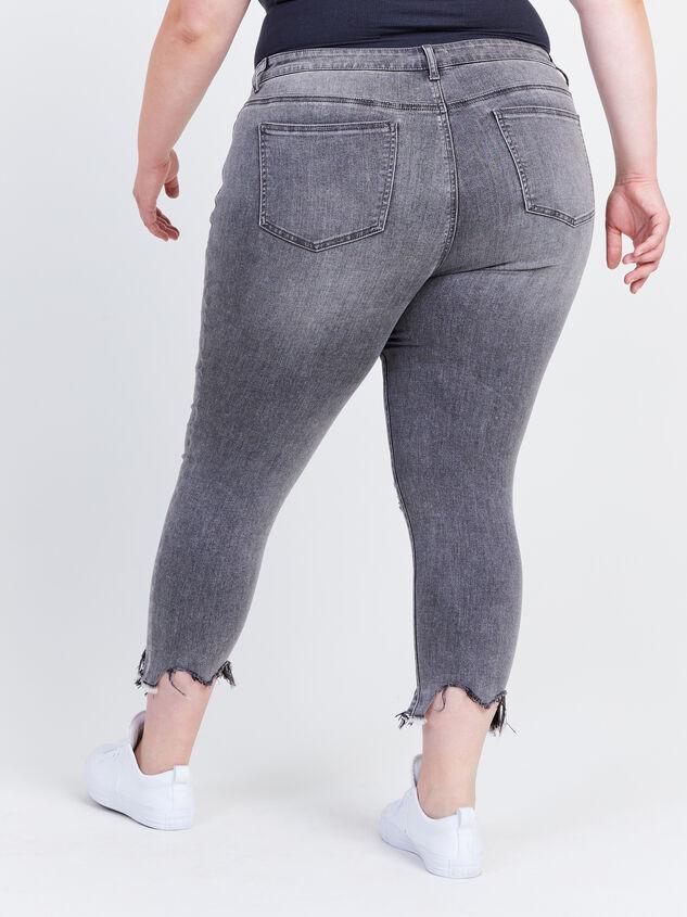 "Incrediflex 26"" Raw Hem Skinny Jeans Detail 4 - ARULA formerly A'Beautiful Soul"