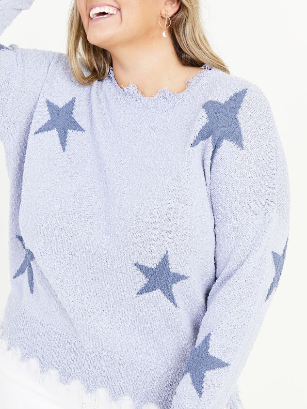 Dreamscape Star Sweater Detail 4 - ARULA formerly A'Beautiful Soul