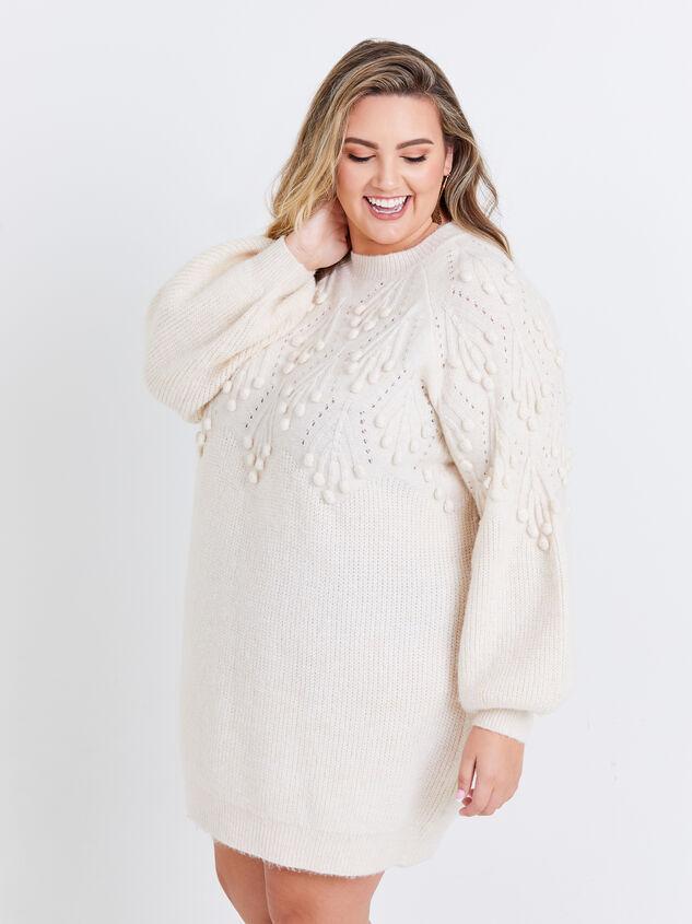 Gabriella Sweater Dress Detail 2 - ARULA