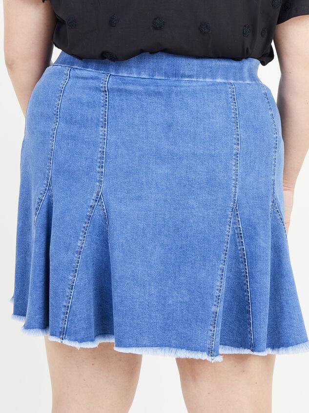 Delilah Denim Skirt Detail 3 - ARULA formerly A'Beautiful Soul