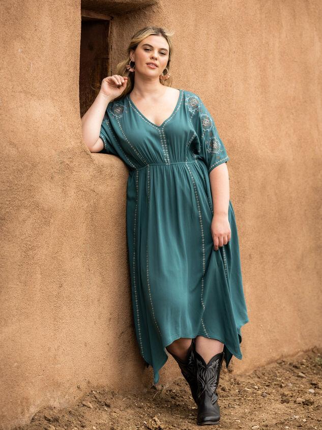 Dakota Embroidered Dress Detail 5 - ARULA formerly A'Beautiful Soul