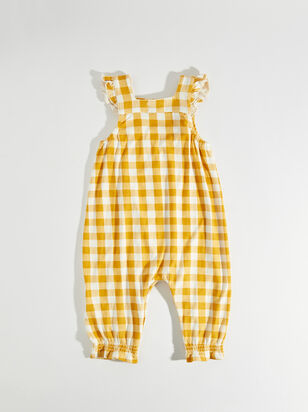 Tullabee Yellow Gingham Coverall - ARULA