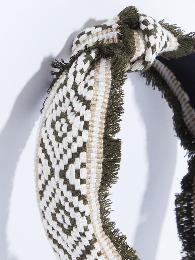 Elliana Headband - Olive Detail 2 - ARULA formerly A'Beautiful Soul