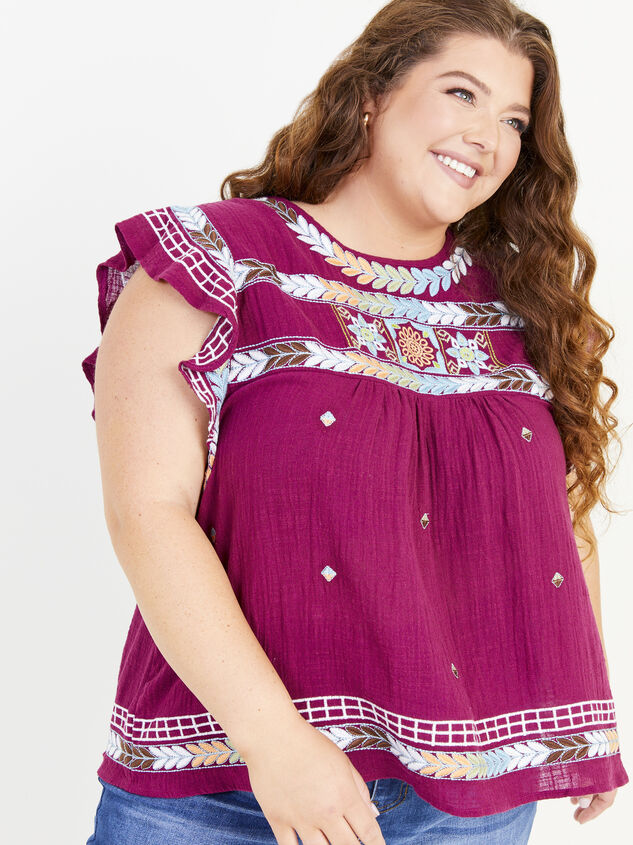 Elsie Embroidered Top Detail 4 - ARULA formerly A'Beautiful Soul