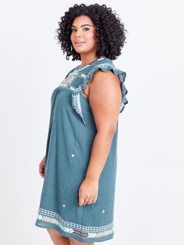 Elsie Embroidered Dress Detail 2 - ARULA