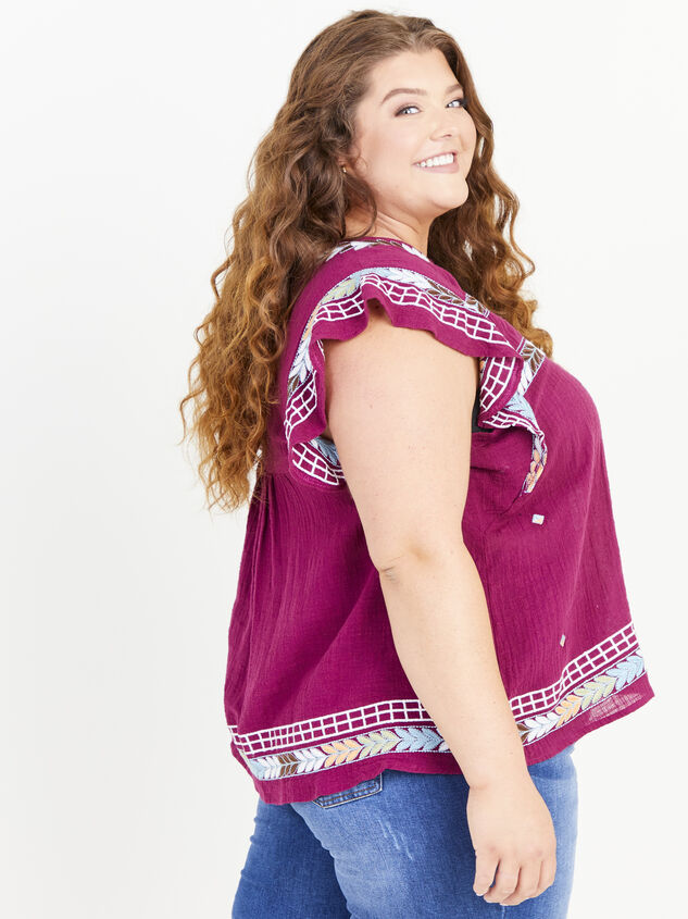 Elsie Embroidered Top Detail 2 - ARULA formerly A'Beautiful Soul