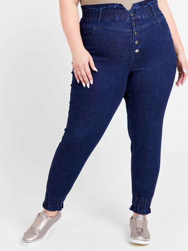 Iyla Elastic Waist Jeans Detail 2 - ARULA