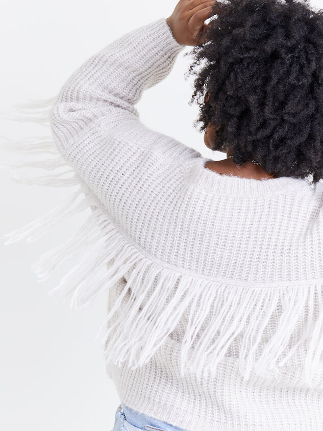 Falling for Fringe Sweater Detail 5 - ARULA formerly A'Beautiful Soul