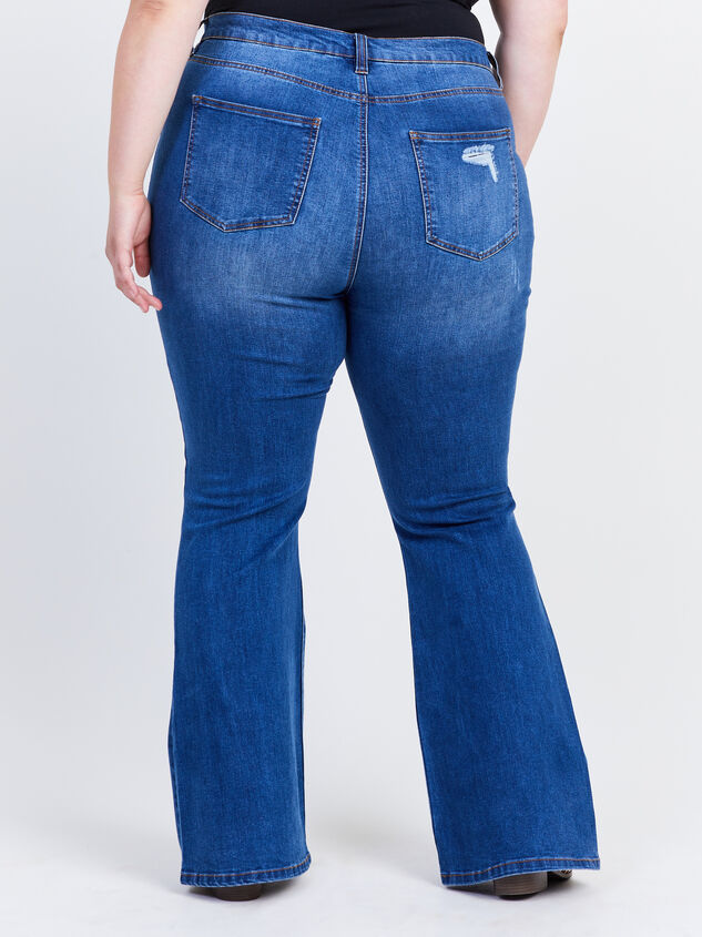 Grey Hound Flare Jeans Detail 4 - ARULA formerly A'Beautiful Soul