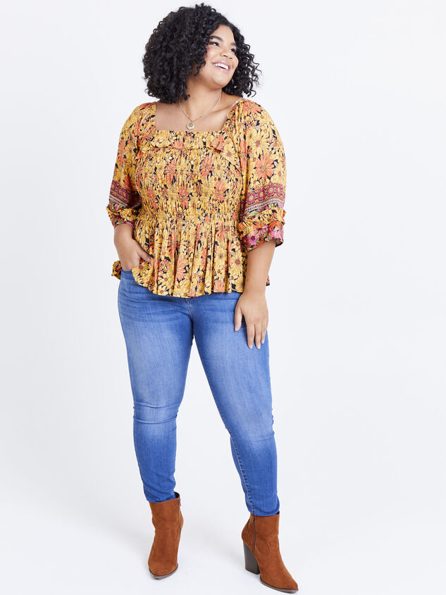 Scarlet Sunflower Top Detail 4 - ARULA formerly A'Beautiful Soul