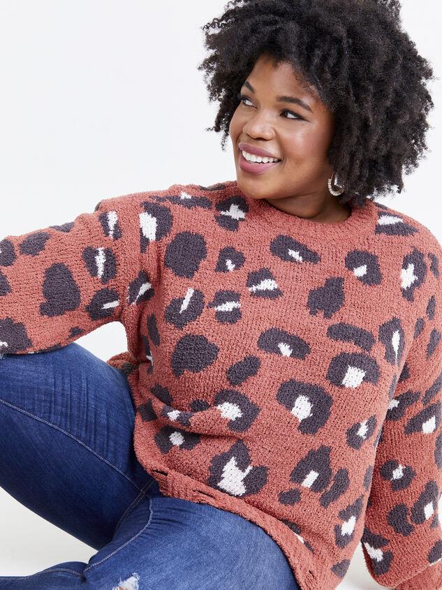 So Cozy Leopard Sweater Detail 5 - ARULA formerly A'Beautiful Soul