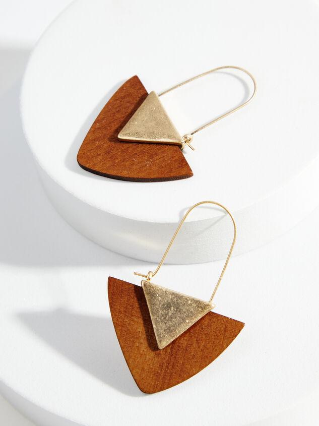 Wood Arrow Earrings - Brown Detail 1 - ARULA formerly A'Beautiful Soul