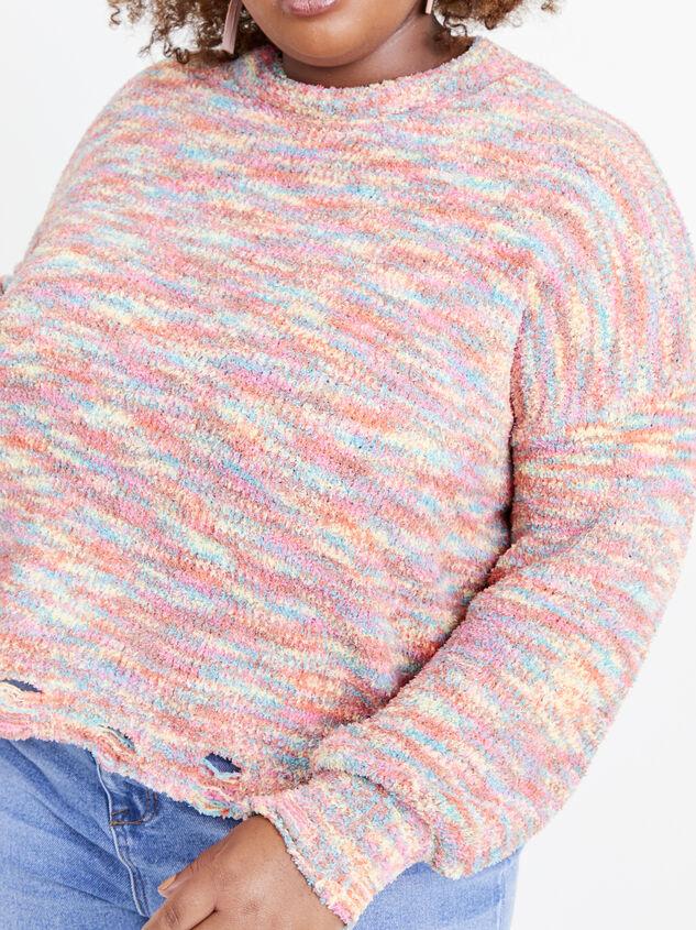 So Cozy Confetti Sweater Detail 5 - ARULA formerly A'Beautiful Soul